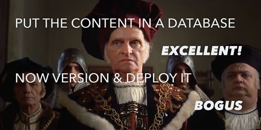 put the content in the database